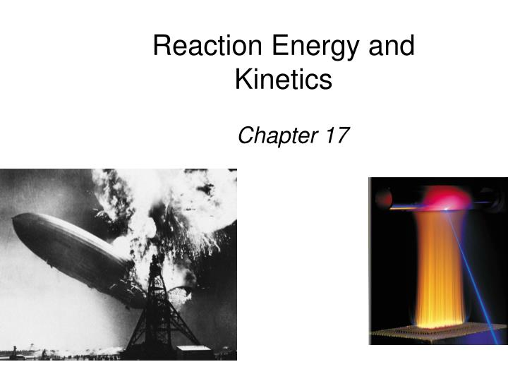 reaction energy and kinetics n.