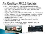 air quality pm2 5 update