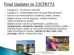 final updates to 23cfr7722