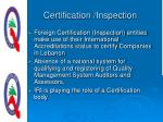 certification inspection