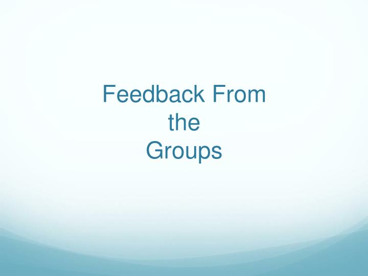 Feedback From