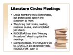 literature circles meetings