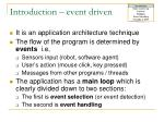 introduction event driven