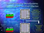 chemical sensing micro systems modeled after front end olfaction