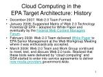 cloud computing in the epa target architecture history