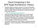 cloud computing in the epa target architecture history2