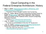 cloud computing in the federal enterprise architecture history