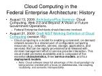 cloud computing in the federal enterprise architecture history1