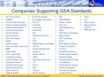 companies supporting gsa standards