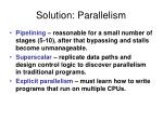 solution parallelism