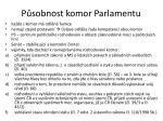 p sobnost komor parlamentu