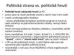 politick strana vs p olitick hnut