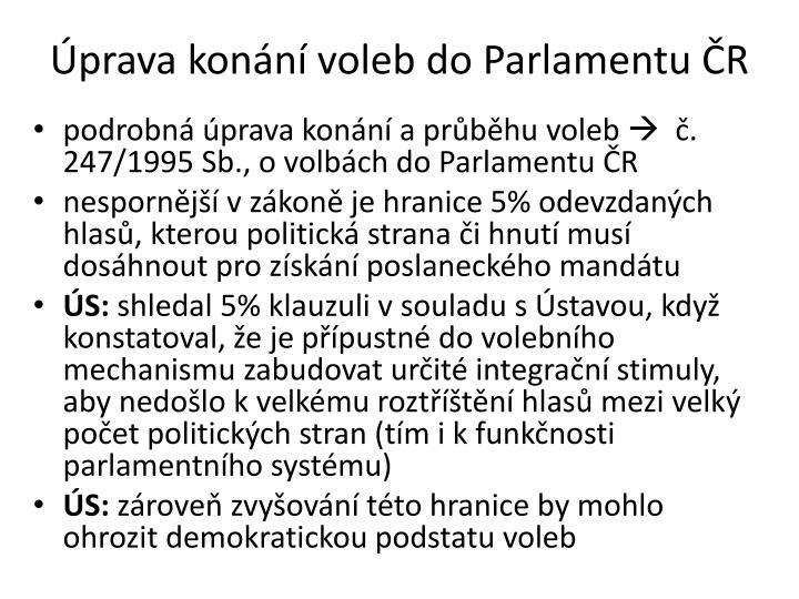 Úprava konání voleb do Parlamentu ČR
