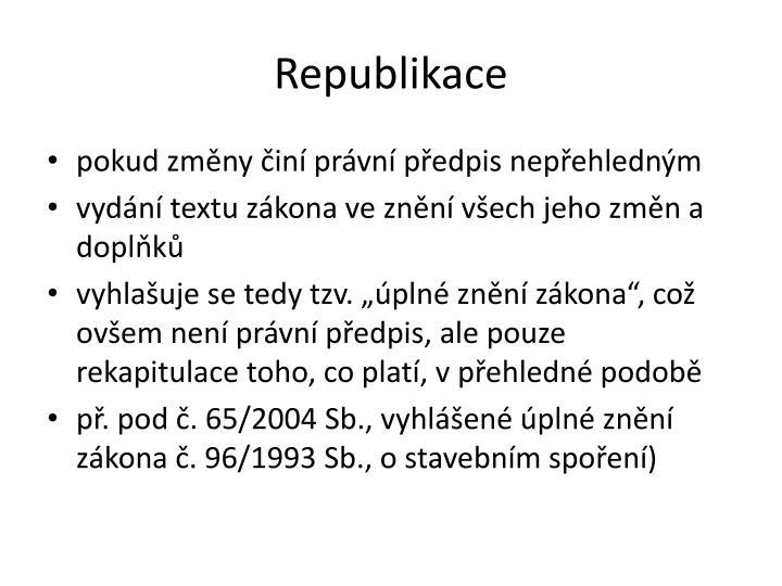 Republikace