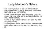 lady macbeth s nature