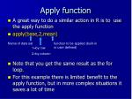 apply function