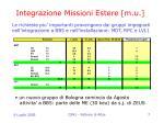 integrazione missioni estere m u