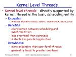 kernel level threads