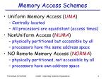 memory access schemes