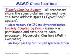 mimd classifications
