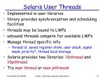 solaris user threads