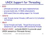 unix support for threading