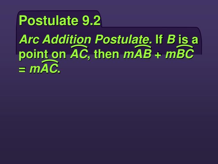 Postulate 9.2