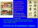 civil service examinations quotas