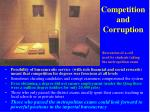 competition and corruption