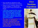 first maritime expedition