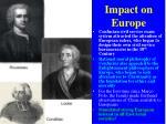 impact on europe