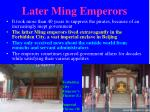 later ming emperors