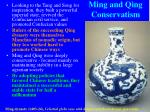 ming and qing conservatism