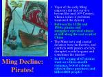 ming decline pirates