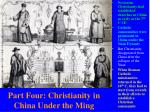 part four christianity in china under the ming