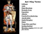 act i key terms
