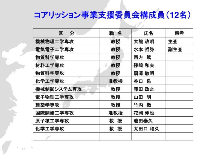 コアリッション事業支援委員会構成員(