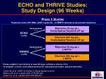 echo and thrive studies study design 96 weeks