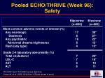 pooled echo thrive week 96 safety