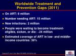 worldwide treatment and prevention gaps 2011