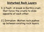 disturbed rock layers