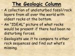 the geologic column