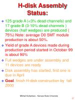 h disk assembly status