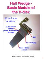 half wedge basic module of the h disk