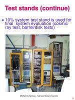 test stands continue