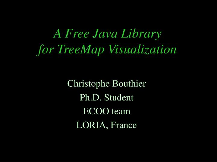 a free java library for treemap visualization n.