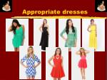 appropriate dresses