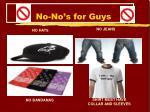 no no s for guys