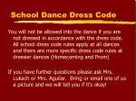 school dance dress code
