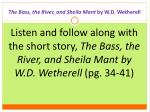 the bass the river and sheila mant by w d wetherell